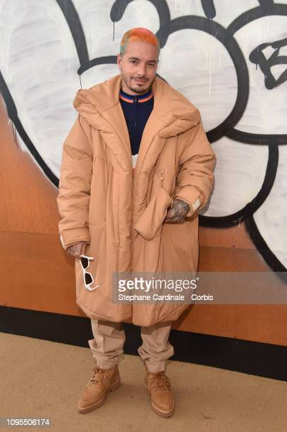 Balvin attends the Louis Vuitton Menswear Fall/Winter 2019/2020 show as part of Paris Fashion Week on January 17 2019 in Paris France