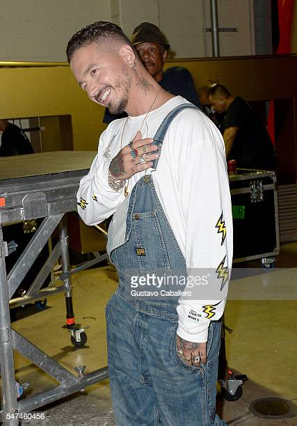 Balvin attends the Univision's 13th Edition Of Premios Juventud Youth Awards at Bank United Center on July 14 2016 in Miami Florida