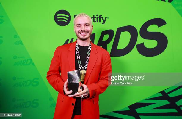 Balvin backstage during the 2020 Spotify Awards at the Auditorio Nacional on March 05 2020 in Mexico City Mexico