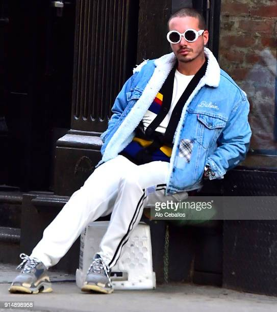 Balvin is seen during a photo shoot in Soho on February 6 2018 in New York City
