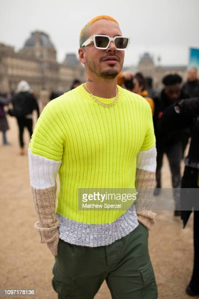Balvin is seen on the street during Men's Paris Fashion Week AW19 on January 20 2019 in Paris France