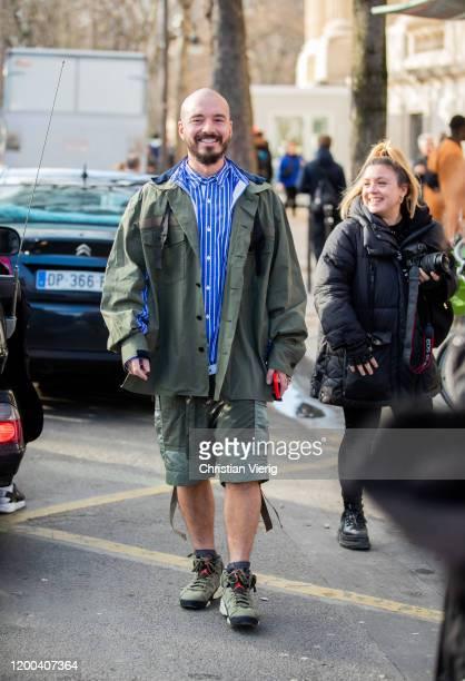Balvin is seen outside Sacai during Paris Fashion Week - Menswear F/W 2020-2021 on January 18, 2020 in Paris, France.
