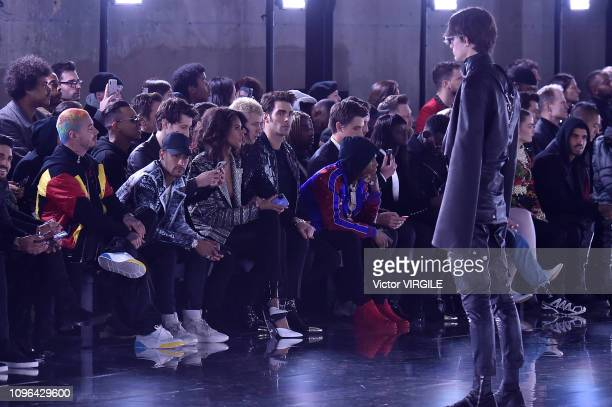 Balvin Neymar Pierre Niney Cindy Bruna Carlo Sestini and A Boogie Wit Da Hoodie during the Balmain Homme Menswear Fall/Winter 20192020 fashion show...