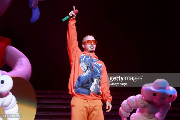 Balvin performs as part of Arcoiris tour at Coliseo Jose M Agrelot on August 30 2019 in San juan Puerto Rico