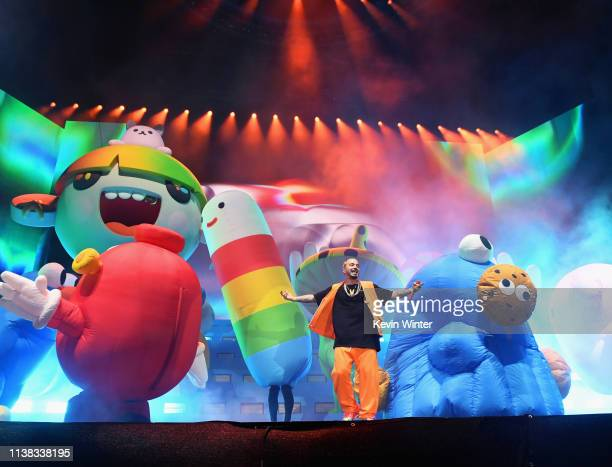 Balvin performs at Coachella Stage during the 2019 Coachella Valley Music And Arts Festival on April 20 2019 in Indio California