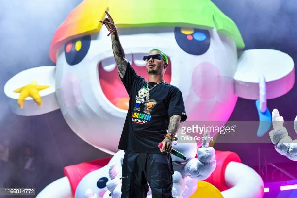 Balvin performs during 2019 Lollapalooza at Grant Park on August 03 2019 in Chicago Illinois