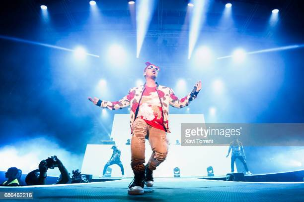 Balvin performs on stage at Sant Jordi Club on May 21 2017 in Barcelona Spain