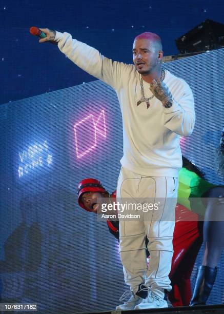 Balvin performs on stage to Ring In 2019 At The Legendary Fontainebleau Miami Beach on December 31 2018 in Miami Beach Florida
