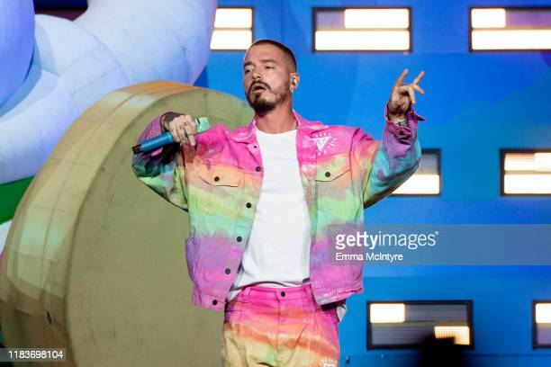 Balvin performs onstage at Staples Center on October 26 2019 in Los Angeles California