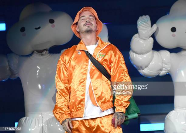 Balvin performs onstage during his Arcoiris tour at Infinite Energy Arena on September 11 2019 in Duluth Georgia