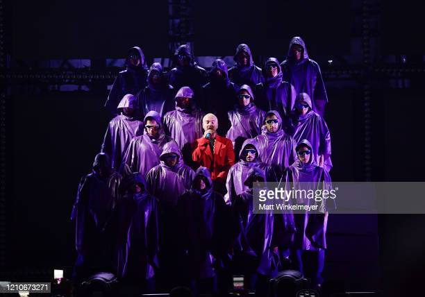 Balvin performs onstage during the 2020 Spotify Awards at the Auditorio Nacional on March 05 2020 in Mexico City Mexico