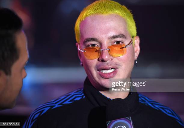 Balvin speaks during rehearsals for the 18th annual Latin Grammy Awards at MGM Grand Garden Arena on November 15 2017 in Las Vegas Nevada