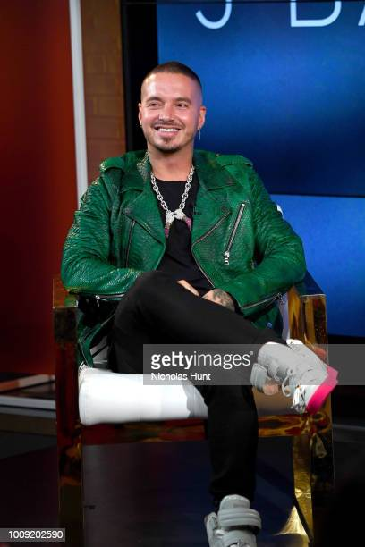 Balvin speaks onstage during the YouTube Music premiere of J Balvin artist spotlight story Redefining Mainstream at YouTube Space on August 1 2018 in...