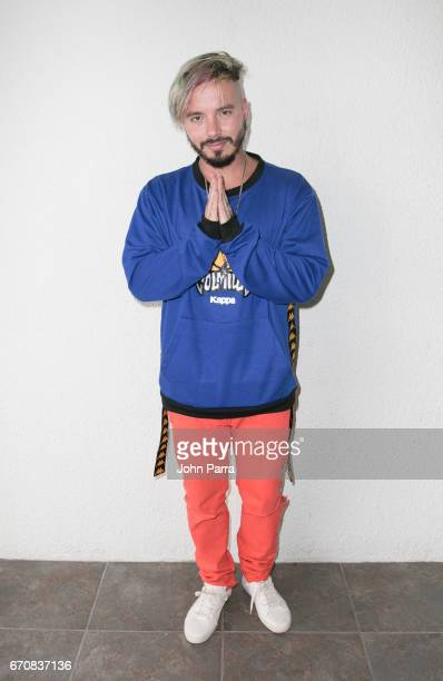 Balvin Visits SBS Studio on April 20 2017 in Miami Florida