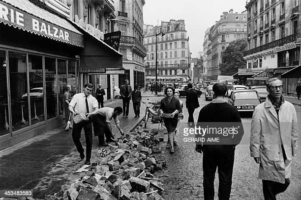 Balzar brasserie in the rue des Ecoles in May 1968 in Paris France