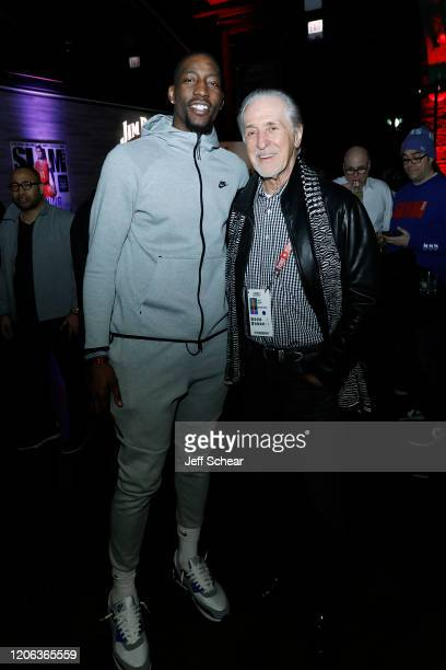 Bam Adebayo and Pat Riley attend the Octagon AllStar Party at Theater on the Lake on February 14 2020 in Chicago Illinois