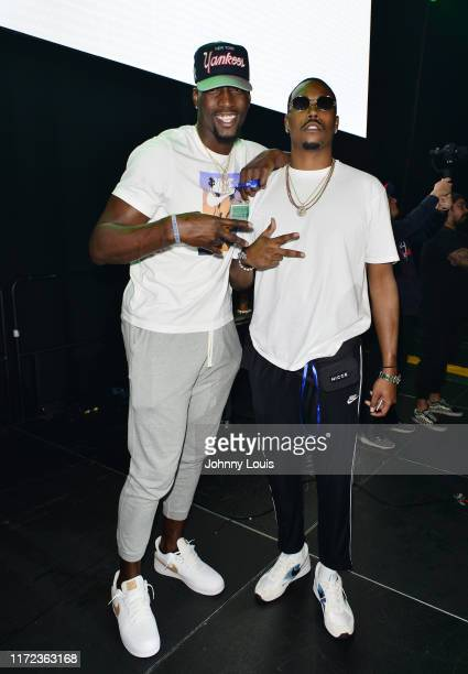 Bam Adebayo and Tyler Trice attend Baby on Baby Feat Dababy Lil Durk NLE Choppa concert at Watsco Center on September 27 2019 in Coral Gables Florida