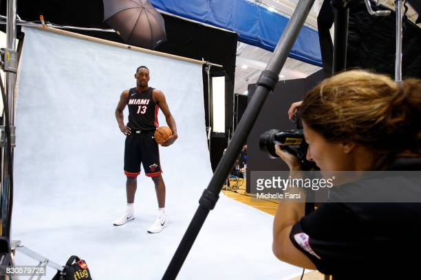 Bam Adebayo of the Miami Heat behind the scenes during the 2017 NBA Rookie Photo Shoot at MSG training center on August 11 2017 in Tarrytown New York...
