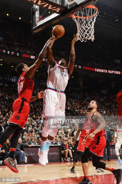 Bam Adebayo of the Miami Heat dunks against the Toronto Raptors on February 13 2018 at the Air Canada Centre in Toronto Ontario Canada NOTE TO USER...