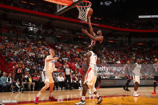 Bam Adebayo of the Miami Heat goes to the basket against the LA Clippers on December 16 2017 at American Airlines Arena in Miami Florida NOTE TO USER...