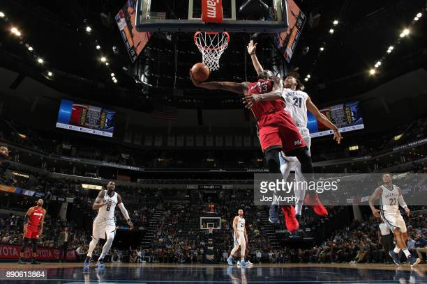 Bam Adebayo of the Miami Heat goes to the basket against the Memphis Grizzlies on December 11 2017 at FedExForum in Memphis Tennessee NOTE TO USER...