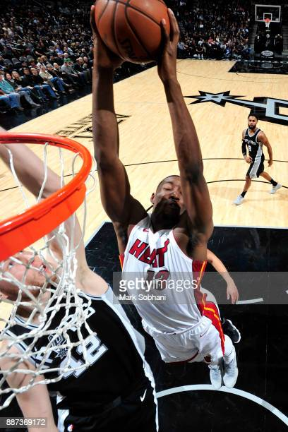 Bam Adebayo of the Miami Heat goes to the basket against the San Antonio Spurs on December 6 2017 at the ATT Center in San Antonio Texas NOTE TO USER...