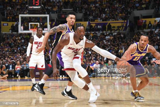 Bam Adebayo of the Miami Heat handles the ball against the Los Angeles Lakers on November 8 2019 at STAPLES Center in Los Angeles California NOTE TO...