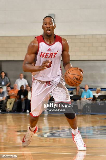 Bam Adebayo of the Miami Heat handles the ball against the Orlando Magic during the 2017 Summer League on July 2 2017 at Amway Center in Orlando...