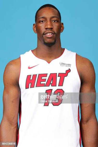 Bam Adebayo of the Miami Heat poses for a head shot at American Airlines Arena in Miami Florida on September 25 2017 NOTE TO USER User expressly...