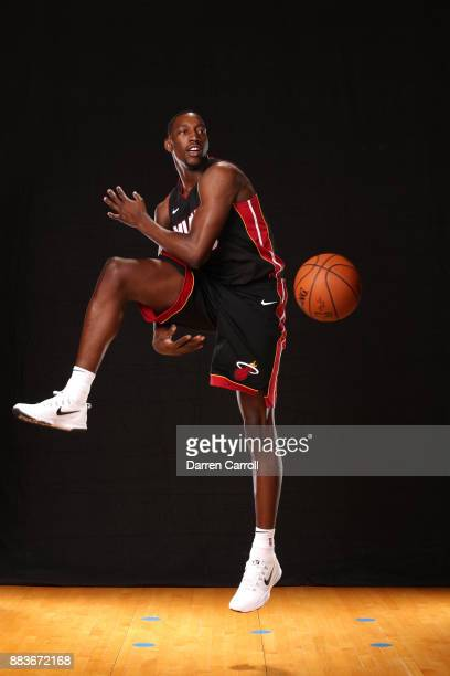 Bam Adebayo of the Miami Heat poses for a photo during the 2017 NBA Rookie Shoot on August 11 2017 at the Madison Square Garden Training Center in...