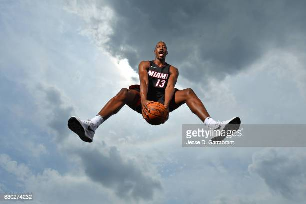 Bam Adebayo of the Miami Heat poses for a portrait during the 2017 NBA rookie photo shoot on August 11 2017 at the Madison Square Garden Training...
