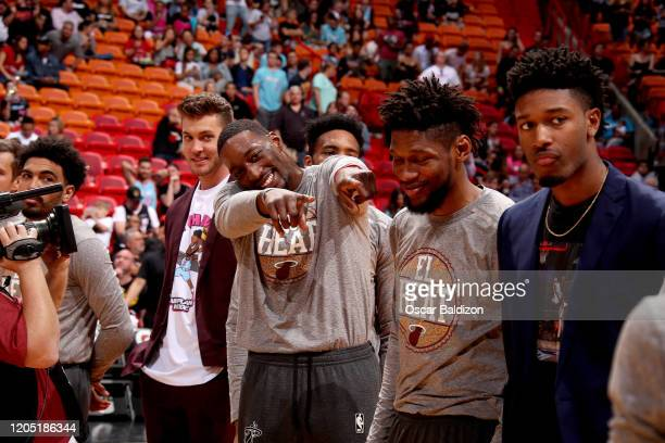 Bam Adebayo of the Miami Heat seen prior to the game against the Orlando Magic on March 4 2020 at American Airlines Arena in Miami Florida NOTE TO...