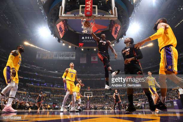Bam Adebayo of the Miami Heat shoots the ball against the Los Angeles Lakers on December 10 2018 at STAPLES Center in Los Angeles California NOTE TO...
