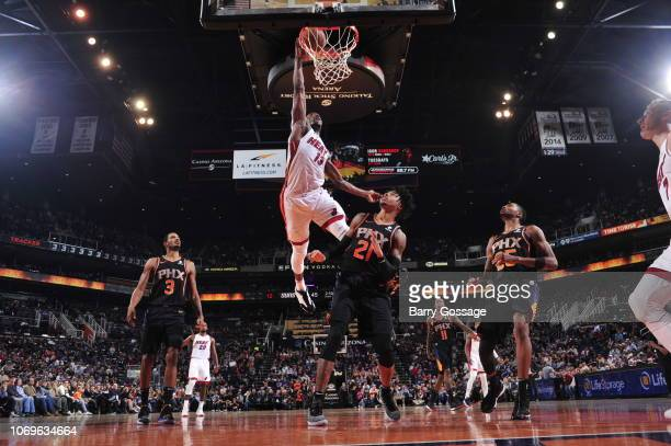 Bam Adebayo of the Miami Heat shoots the ball against the Phoenix Suns on December 7 2018 at Talking Stick Resort Arena in Phoenix Arizona NOTE TO...