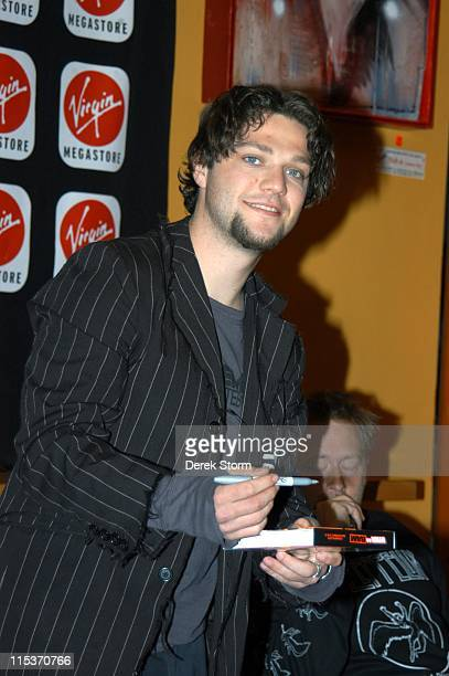 Bam Magera during Bam Magera Promotes His DVD Viva La Bam at Virgin Megastore in Union Square at Virgin Megastore Union Square in New York City New...