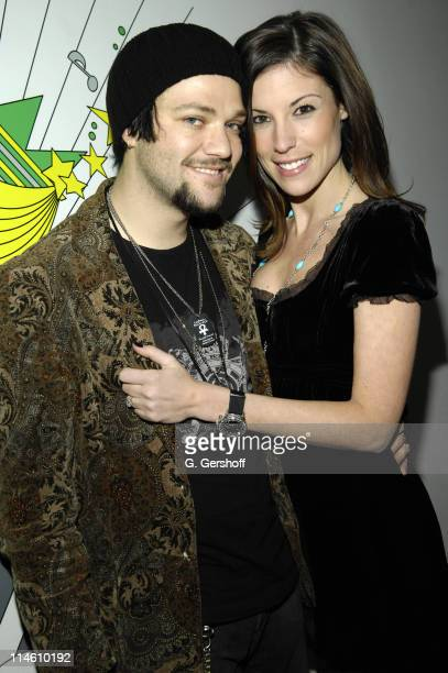 Bam Margera and Missy during Bam Margera and His Fiance Missy Visit MTV's TRL January 29 2007 at MTV Studios in New York City New York United States