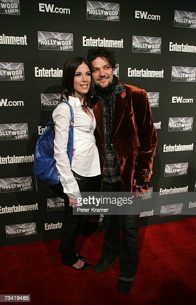 Bam Margera and Missy Margera attend the Entertainment Weekly Academy Awards viewing party at Elaine's on February 25 2007 in New York City