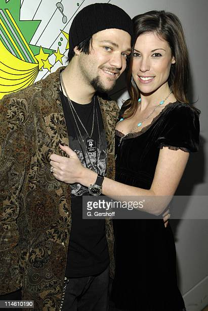 Bam Margera and Missy Margera during Bam Margera and His Fiance Missy Visit MTV's TRL January 29 2007 at MTV Studios in New York City New York United...