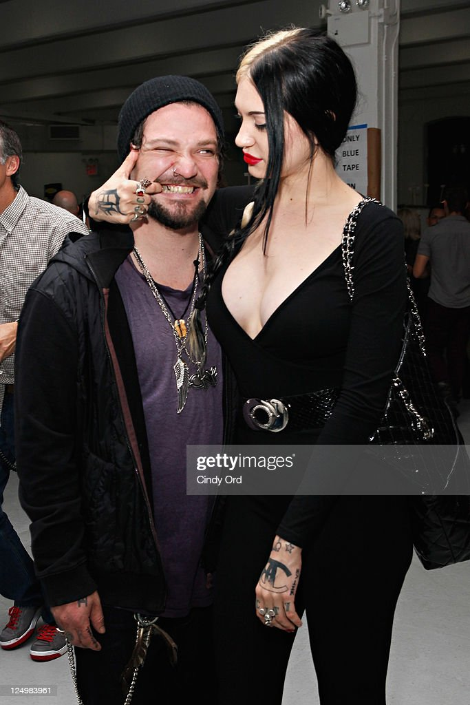 Bam Margera And Porcelain Black Backstage At The The Blonds Spring
