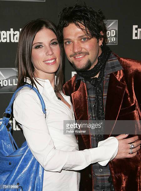 Bam Margera and wife Missy Margera attend the Entertainment Weekly Academy Awards viewing party at Elaine's on February 25 2007 in New York City