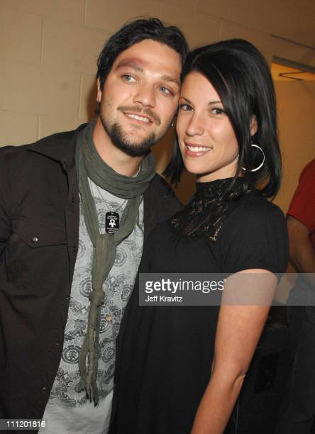 Bam Margera and wife Missy Margera during 2007 VH1 Rock Honors Backstage at Mandalay Bay in Las Vegas Nevada United States