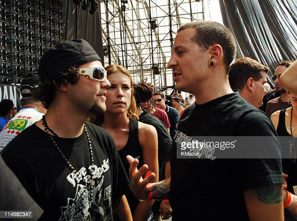 Bam Margera with Chester Bennington of Linkin Park