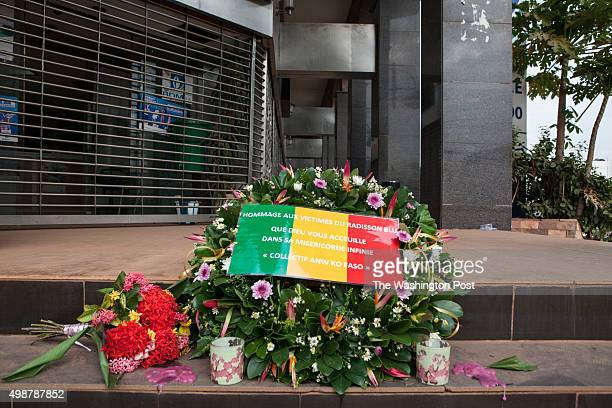 Bamako Mali A small memorial outside of the Radisson Blu Hotel three days after an attack by Al Mourabitoun an AlQaeda affiliate that killed close to...