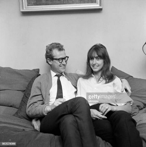 Bamber Gascoigne TV personality and his wife Christina at home on Notting Hill London 15th September 1965