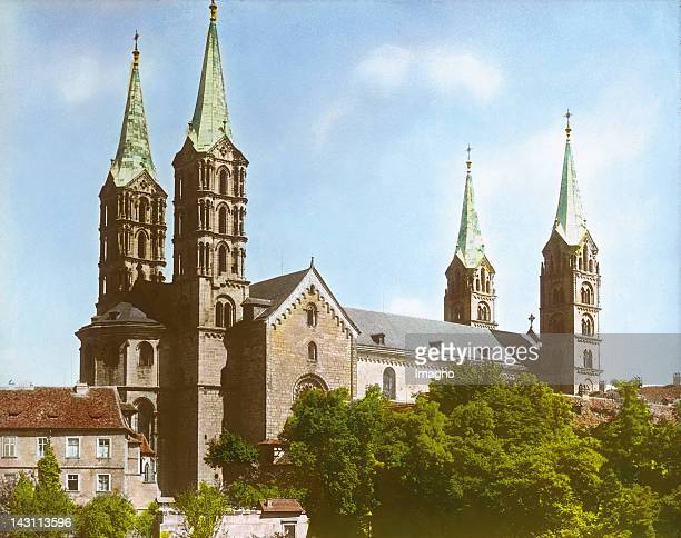 Bamberg Cathedral Handcolored lantern slide around 1900