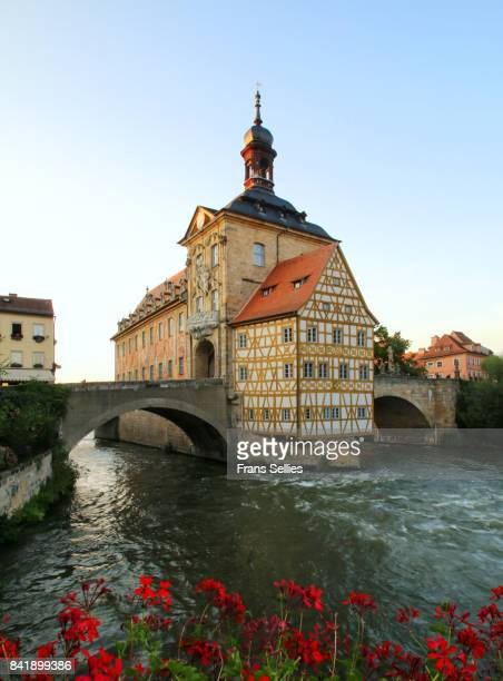 Bamberg with the old city hall and river, Bavaria, Germany