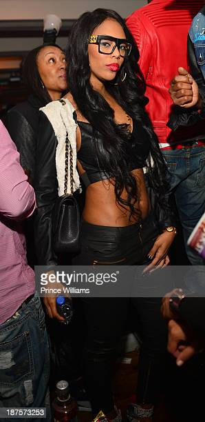 Bambi attends the Dipset Reunion at Compound on November 9 2013 in Atlanta Georgia