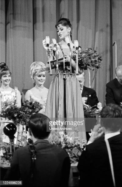 Bambi award ceremony in the Hercules Hall of the Munich Residence on 22 January 1967 Maria Marie Versini