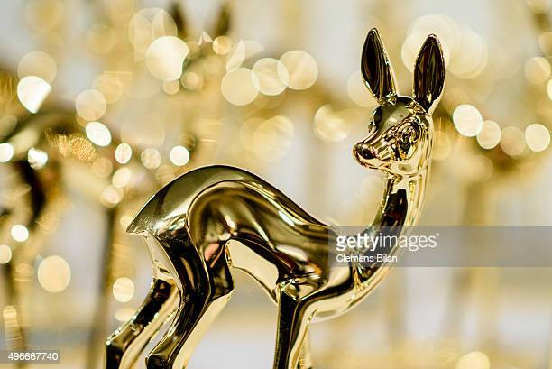 Bambi awards seen during preparations for the Bambi Awards 2015 at Stage Theater on November 11 2015 in Berlin Germany The Bambi Awards 2015 will be...
