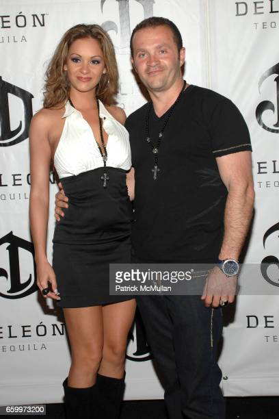 Bambi lashell and Pascel Mouawada attend DeLeon Tequila Cinco De Mayo Launch Party at Chateau Marmont on May 5 2009 in Hollywood California